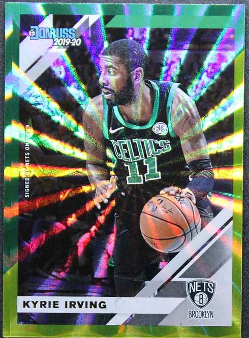 Kyrie Irving 2019-20 Donruss Green and Yellow Laser
