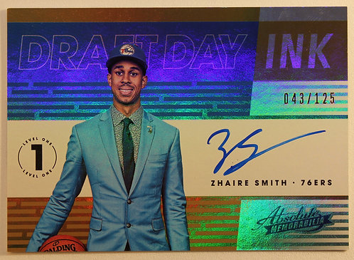 Zhaire Smith 2018/19 Absolute Memorabilia Draft Day Ink 43/125