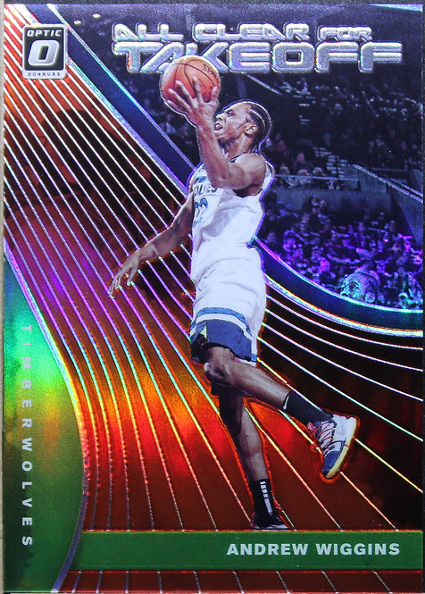 Andrew Wiggins 2019-20 Optic Clear for take off Red 20/99
