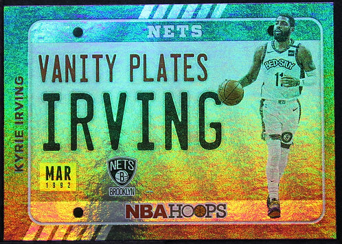 Kyrie Irving 2020-21 Vanity Plates Holo