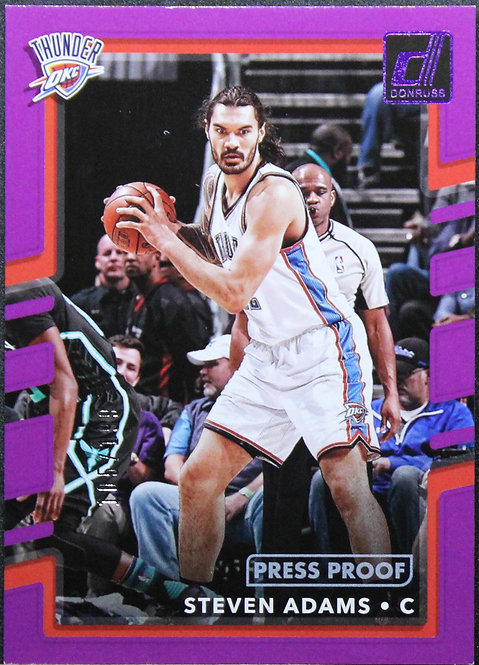 Steven Adams 2017-18 Donruss Press Proof Purple 105/199