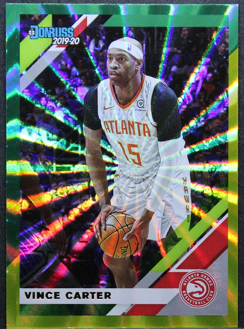 Vince Carter 2019-20 Donruss Holo Green and Yellow Laser