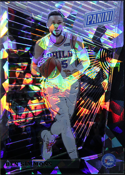 Ben Simmons 2018 National Convention Gold VIP Prizm Cracked Ice 07/50