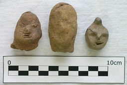 Human effigy heads - Sp119-121A_LN1087,5