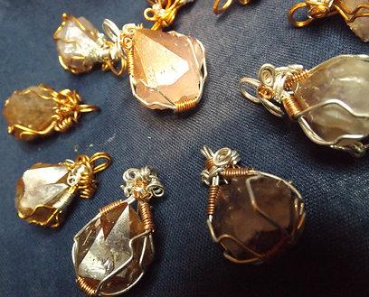 Phantom Amethyst Crystal Pendants