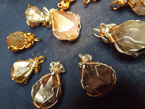 Phantom Amethyst Crystal Pendants