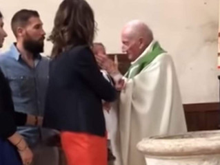 French Priest Who Slapped a Baby During a Baptism Identified and Suspended from Church Duties