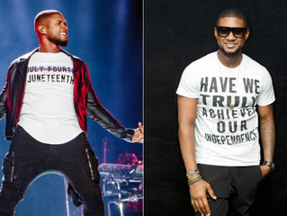 Usher Explains His Juneteenth Shirt: 'Know What You're Celebrating'