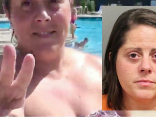 Raging white woman assaults black boy at pool — and then bites the cop who came to arrest her