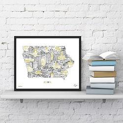 Iowa Hawkeyes Map Art.jpg