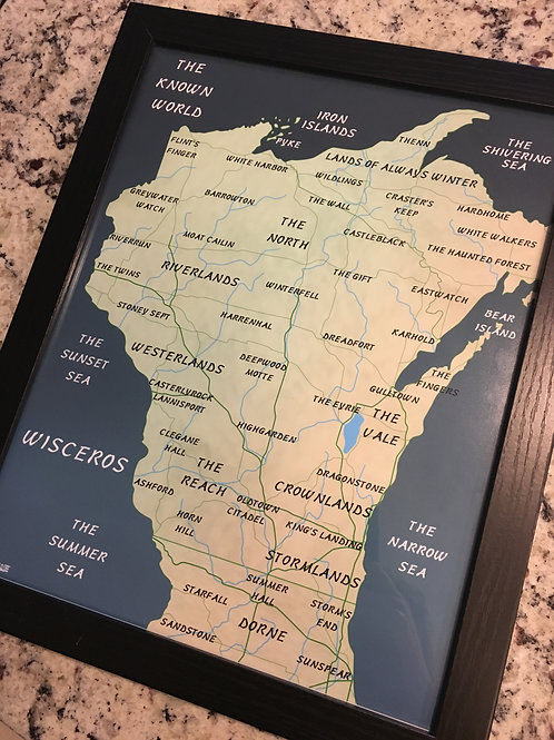 WISCONSIN GAME OF THRONES MAP