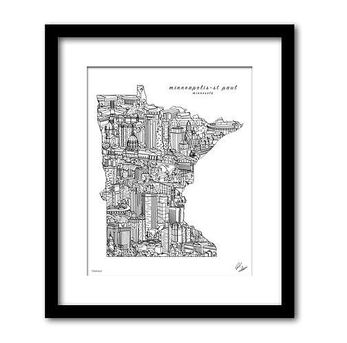 Minneapolis St. Paul Art Print