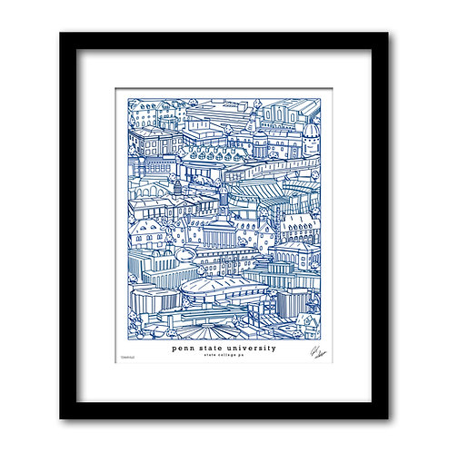 Penn State University Art Print