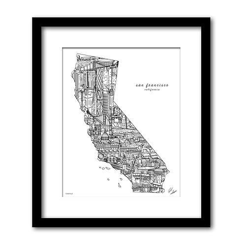 San Francisco California Artwork