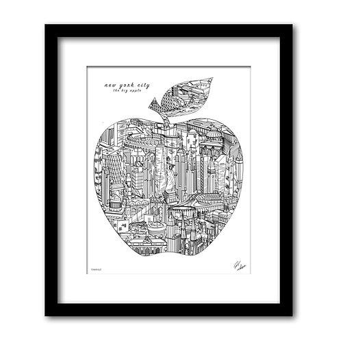 New York City Big Apple Artwork