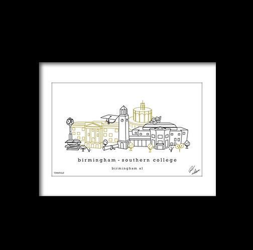 Birmingham-Southern College Campus Minimalist Art Print