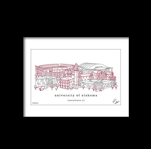 University of Alabama Minimalist Art Print