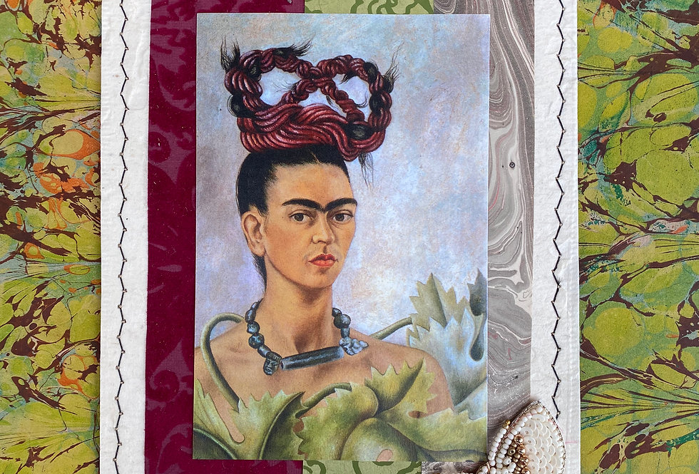 Frida with Red Crown