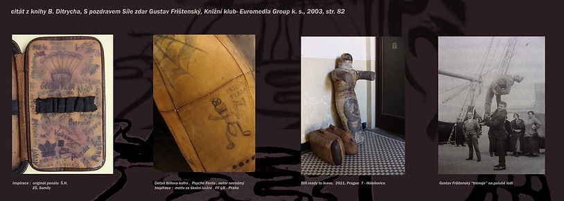 tatooed leather sculpture