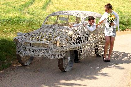crocheted car_Viktor 2001 - public art project