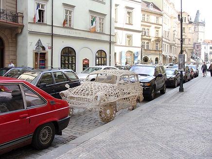 crocheted car_Prague