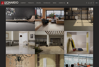Leonardo Ceramica hjemmeside