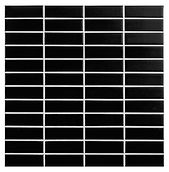 Black 23x73 mm keramisk mosaik fra Aqua Color - Colour Ceramica