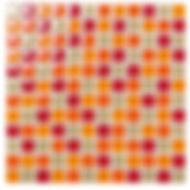 Pau 23x23 mm krystal mosaik fra Aqua Color - Colour Ceramica