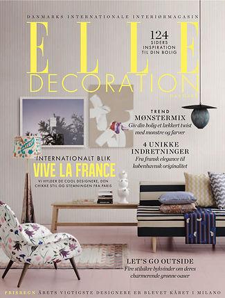 Tint Pink 20x20 fra Imola Ceramica på forsiden af Elle Decoration DK april 2016