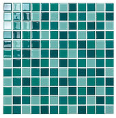 Paris 23x23 mm krystal mosaik fra Aqua Color - Colour Ceramica