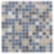 Lisse 20x20 mm glasmosaik fra Aqua Color - Colour Ceramica