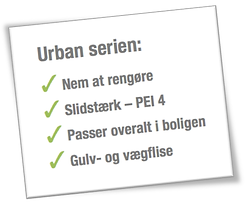 Urban flisen - salgsparametre