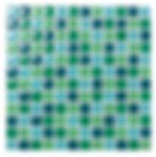 Riga 23x23 mm krystal mosaik fra Aqua Color - Colour Ceramica