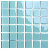 Barcelona 48x48 mm krystal mosaik fra Aqua Color - Colour Ceramica