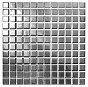 Silver 23x23 mm keramisk mosaik fra Aqua Color - Colour Ceramica
