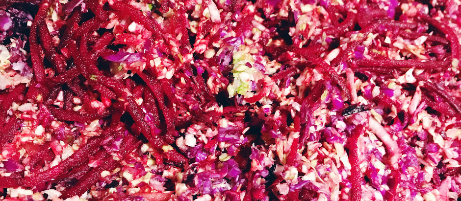 Tangy Raw Beet & Cabbage Salad
