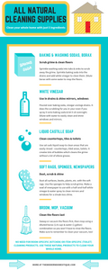 A cleaning supply infographic