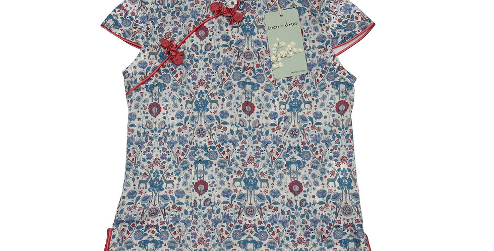 Luce - Camicia qipao 100% Cotone Liberty London
