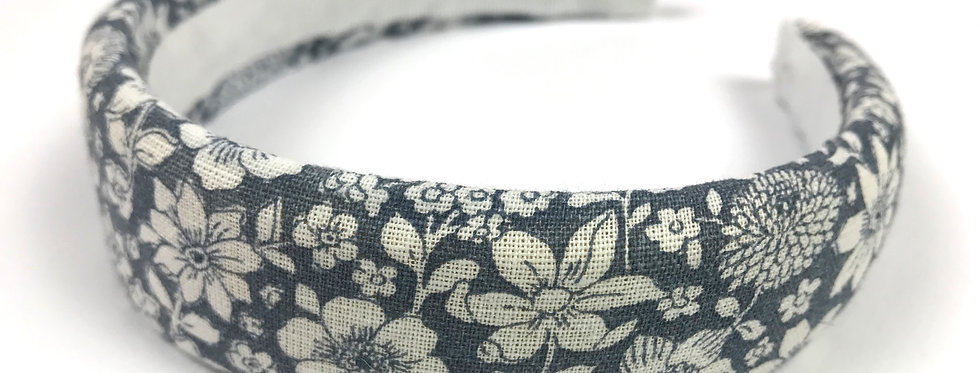 Cerchietto rivestito in tessuto 55% Lino 45%Cotone