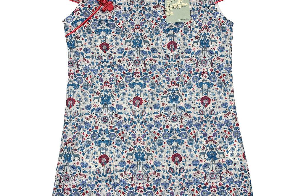 Luce - Qipao vestito 100% Cotone Liberty London
