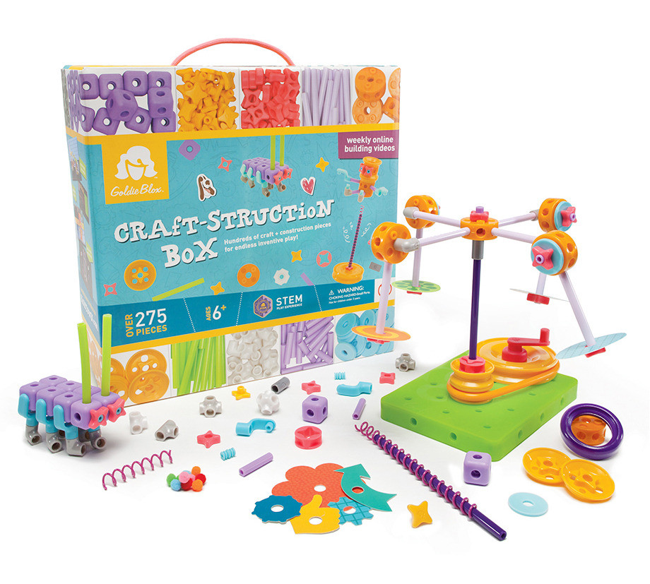 Craft-struction Box Packaging & Toy Pieces