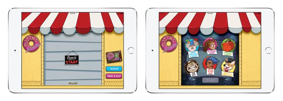 App Start Screen & Player Character Picker