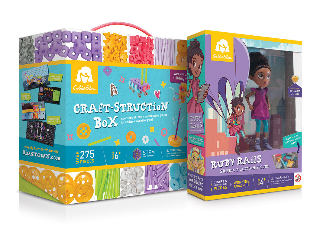 Craft-struction Box & Ruby Rails Action Figure Packaging