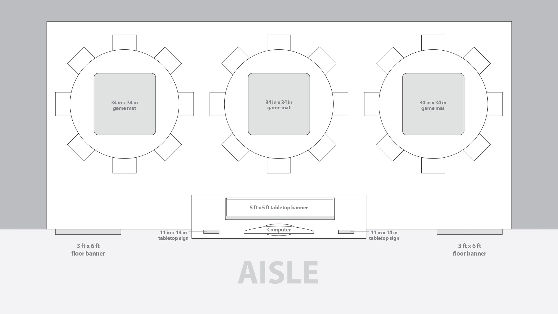 Event Booth Floorplan (Top View)