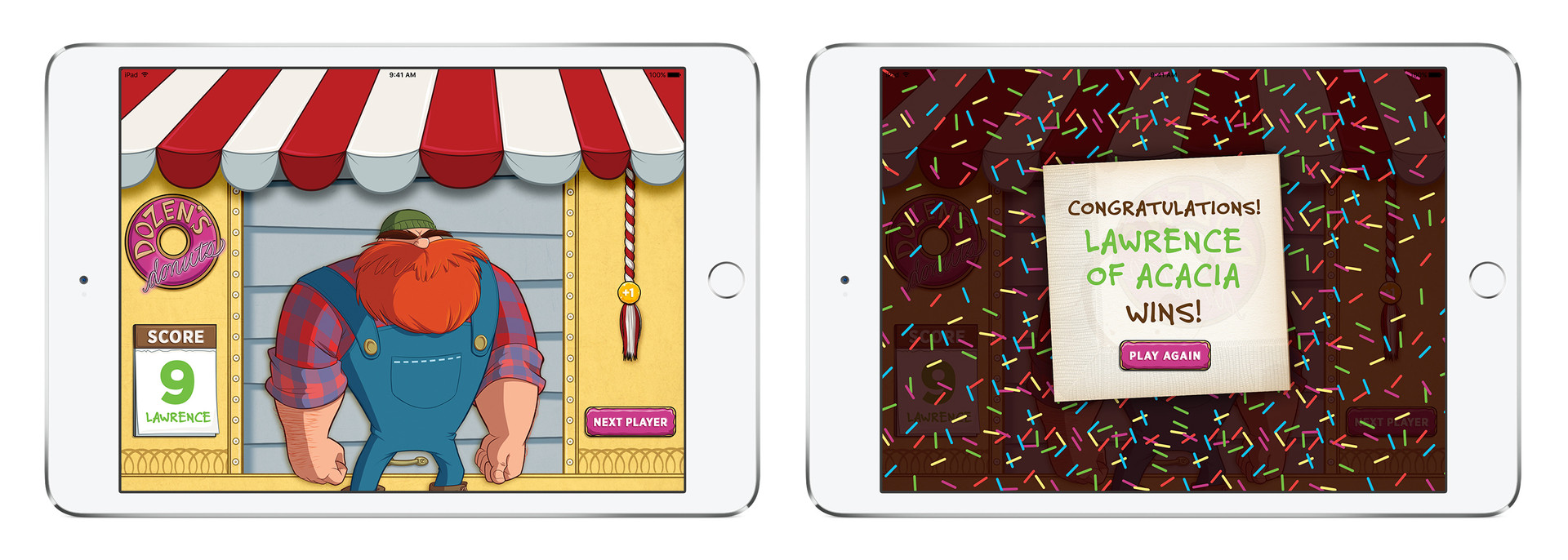 App Scoring Screen & Winning Screen