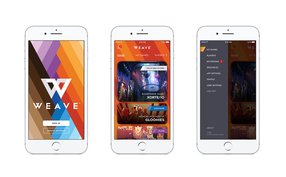 Launch Screen, Home Screen, and Menu