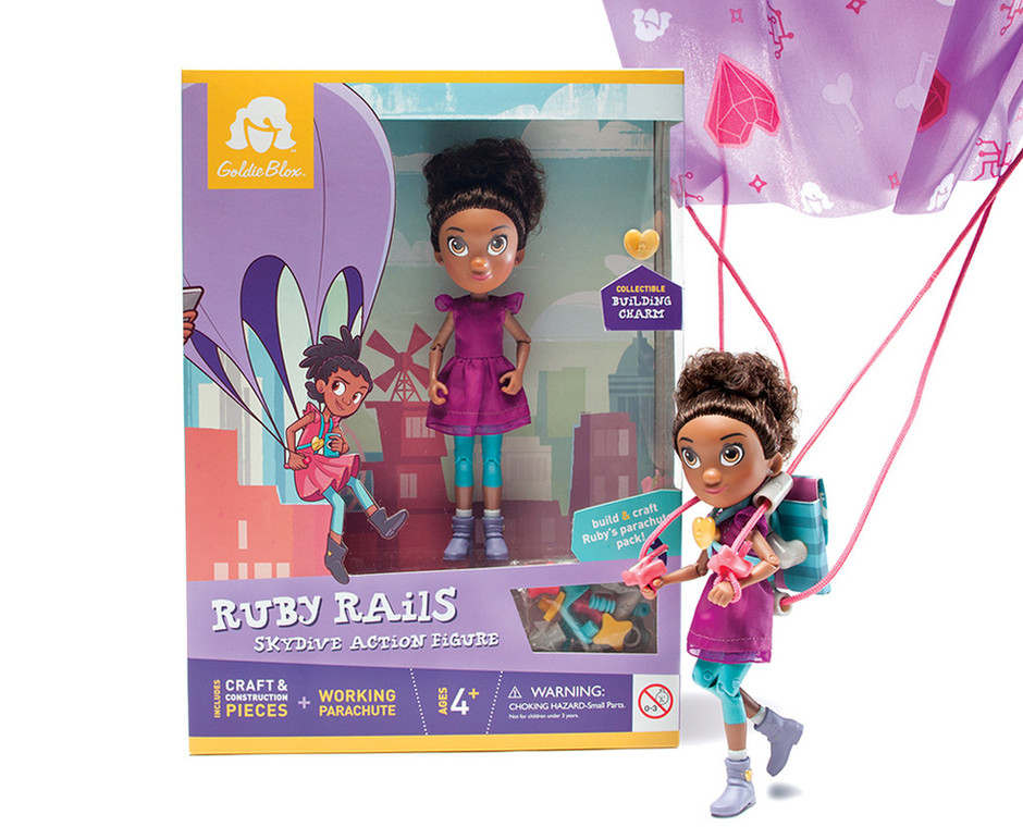 Ruby Rails Action Figure Packaging & Toy