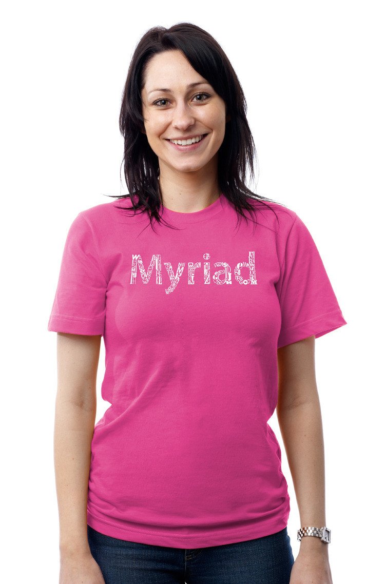 Myriad Graphic Applied To Apparel