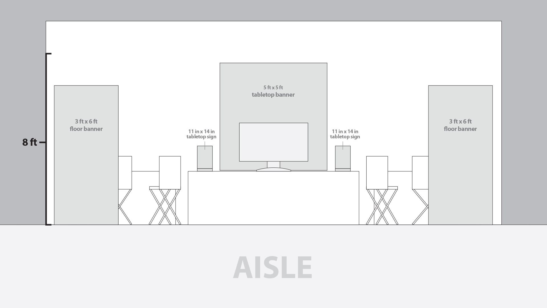 Event Booth Floorplan (Front View)