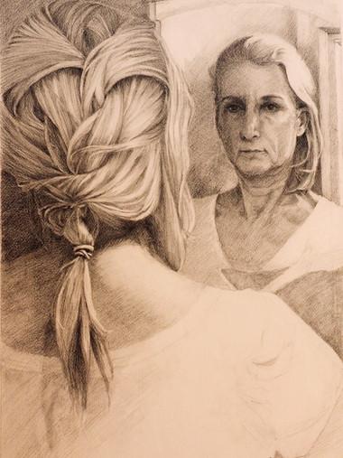 Self portrait in mirroir